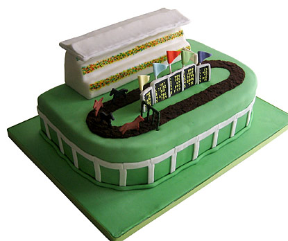 Racetrack Groom's Cake - The Sugar Syndicate Chicago