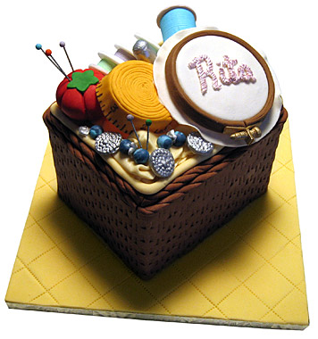 Sewing Box Birthday Cake